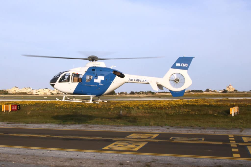 Gulf Med air ambulance helicopter